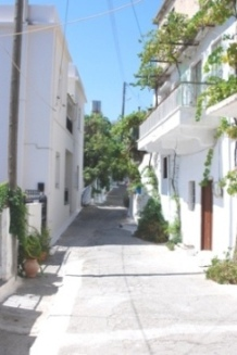 Steep streets of the village