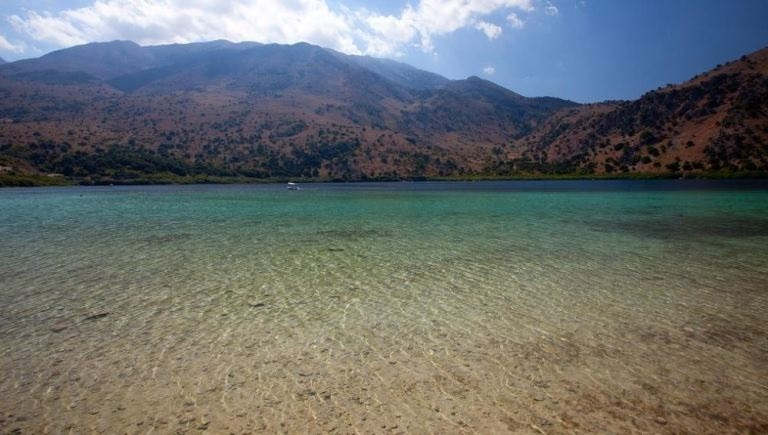 Lake Kournas is just inland from Georgioupolis Beach, drive here on your way to Agyroupolis