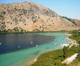 Lake Kournas Crete, near Kastellos Village, (image by Aeleftherios