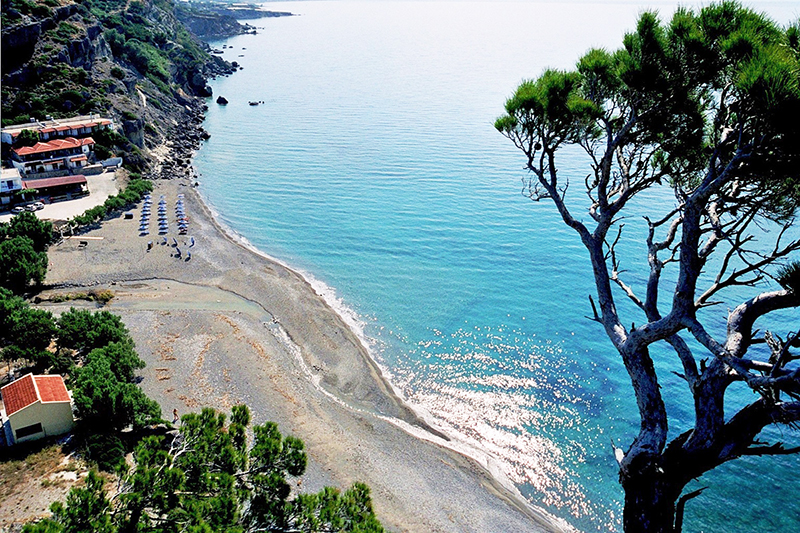 Agia Fotia Beach is less than 3 km from Carob Villa.