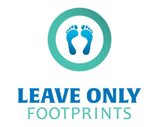 Leave only footprints - We Love Crete - take your rubbish with you when walking
