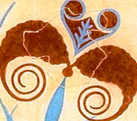 Ancient Crete, Minoan Fresco of Lilies