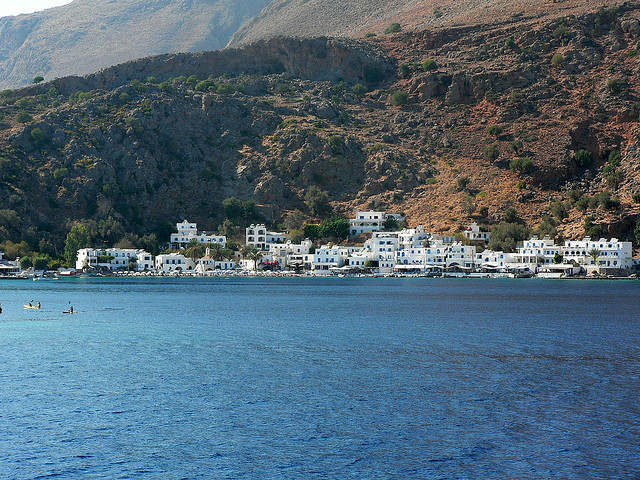 Arrive at Loutro by foot or by sea only