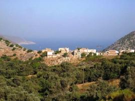 Mourtzanakis Residence, Achlada - view over the hills and resort to the sea