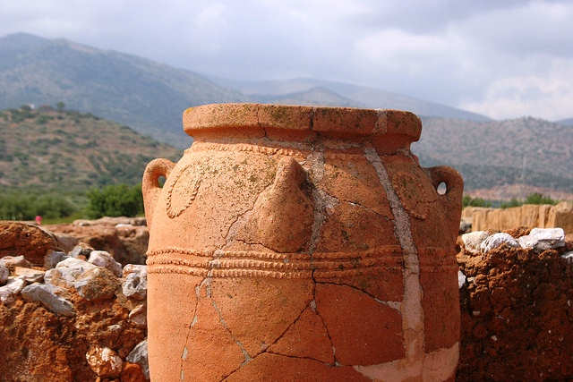 Pithos jar at Malia Palace, Crete Greece (photo by Alexander Baranov)