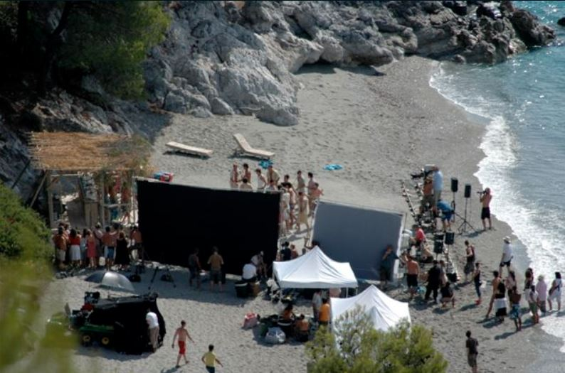 Kastani Beach - filming of Mamma Mia the movie