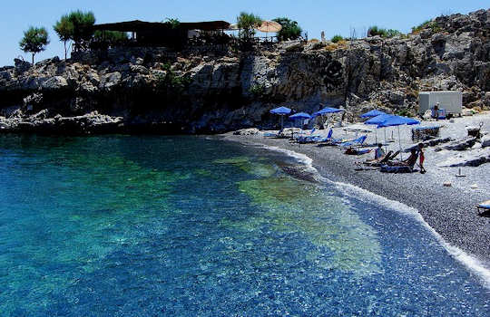 Marmara Beach near Loutro (image by Yatmandu)