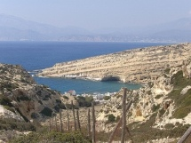 Matala Beach is nearby