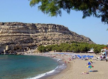 Matala Beach, Crete Greece