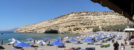 Matala Beach in the south of Heraklion