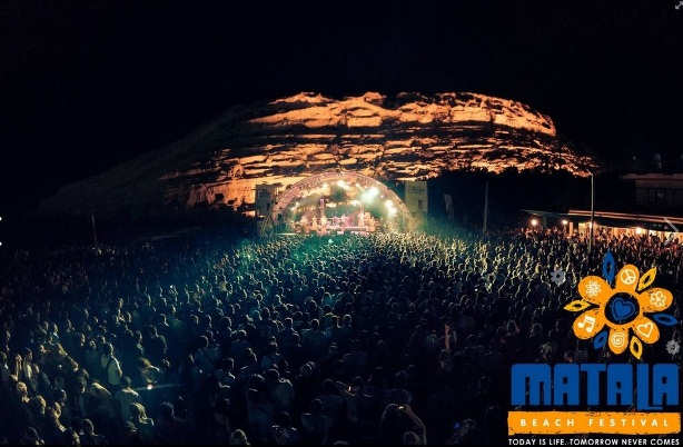 Beach Festival crowds and stage at night (image by Dimitrios Maniatis)