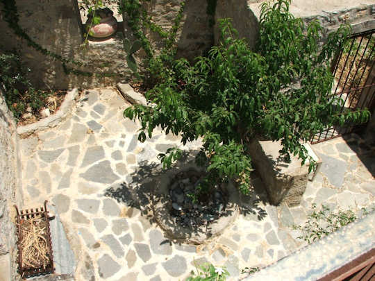 Traditional courtyard in Crete