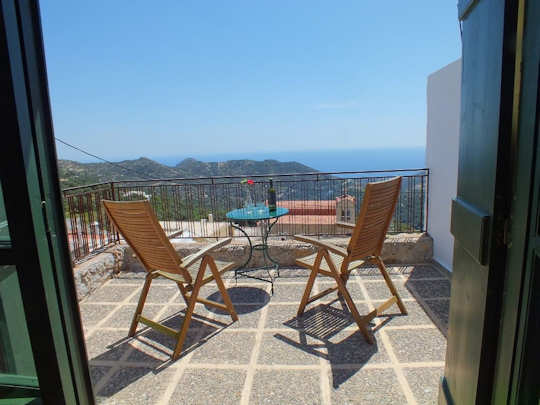 View from balcony - mountain village house - Agios Ioannis Crete