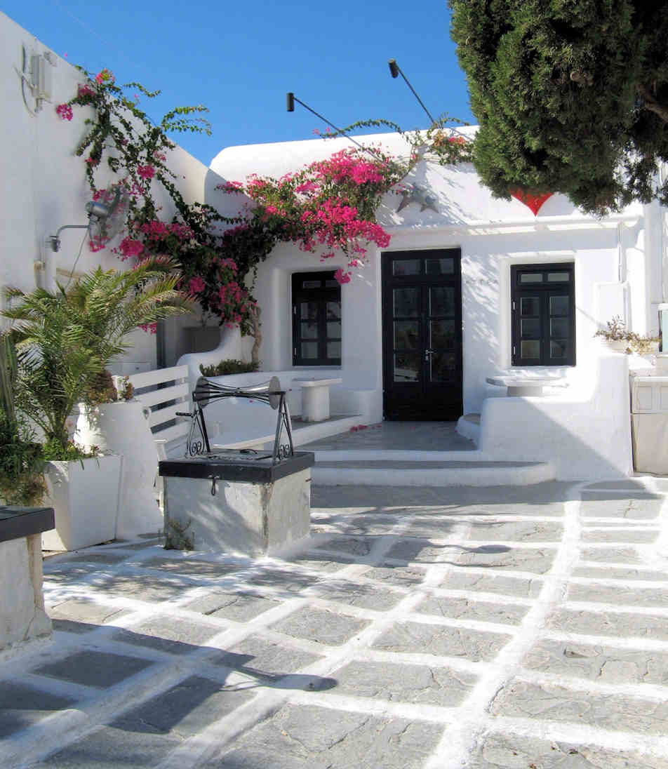 I loved this little old house in the back streets of Mykonos - with its old well out the front - it is now a nightclub
