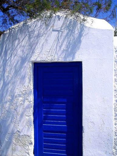 Door, Mykonos, Greece by Lee Cannon