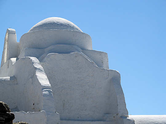 Crete to Mykonos - white island architecture against a blue sky