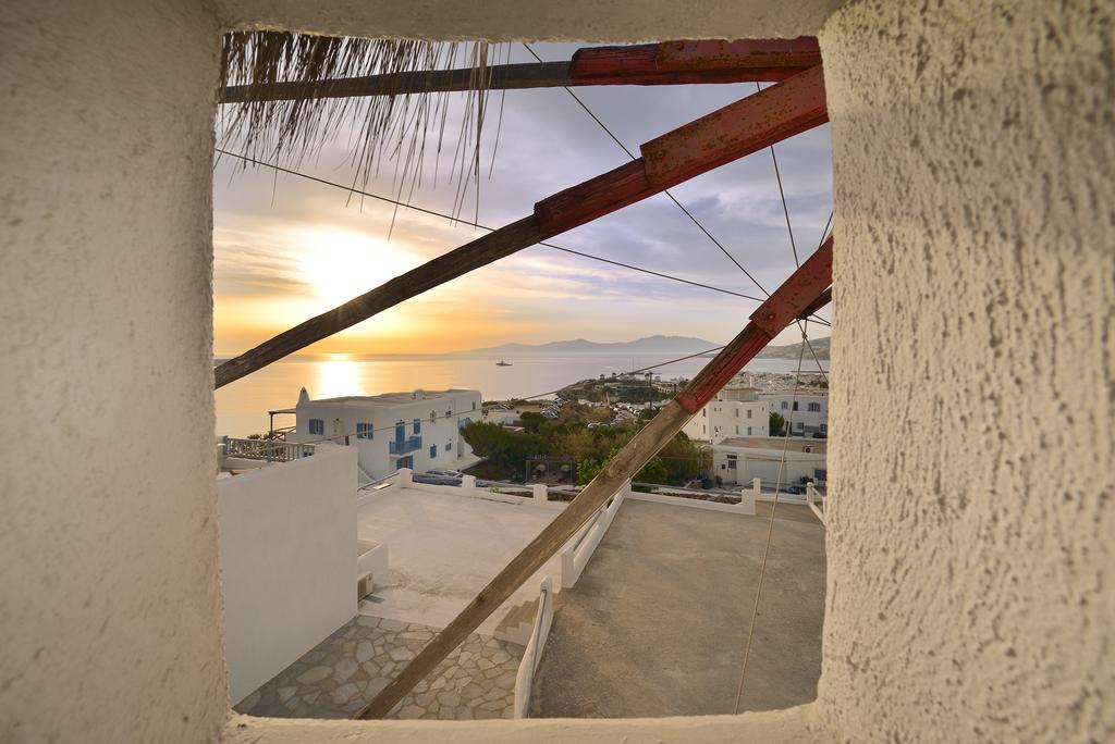 Accommodation inside a Mykonos windmill - wake up to this view
