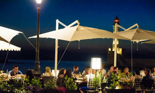 Nama Bar by the harbour - day or night it is the spot for modern Goddesses