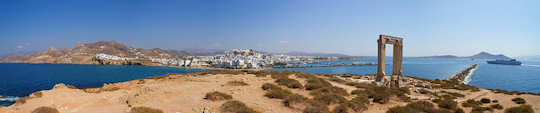 See the 'Portara' or Temple of Apollo near Naxos town (image by TimOve)
