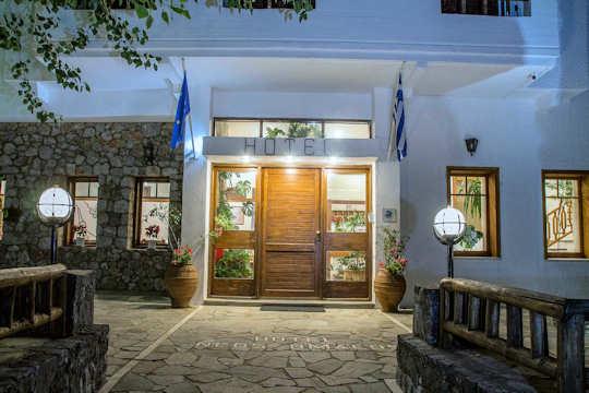 Neos Omalos Hotel entrance