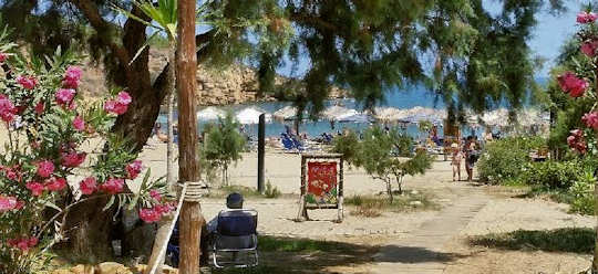 Agioi Apostoloi Beach is very close to Chania town in the north west of Crete