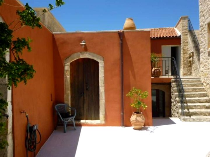 The Old Mill Villa just outside Zouridi in Rethymnon, Crete - showing the restored mill and door