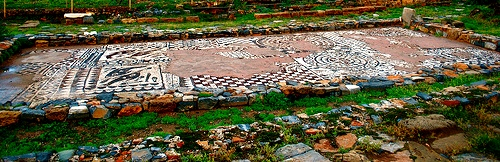 Mosaic ruins - ancient Olous