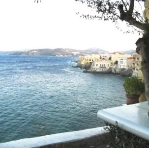 View from Oneiro Restaurant in Vapori