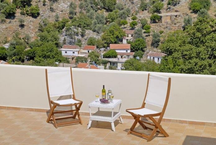 View from balcony of Oreinothea Villa in Theriso