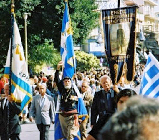 Oxi Day in Heraklion, Crete