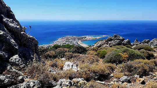 West Crete by Bus - Paleochora is surrounded by beaches