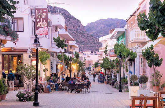Enjoy the cafes and tavernas of Paleochora