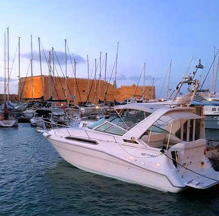 Stay on the Pegasus in Heraklion Old Harbour for a unique experience and very central location