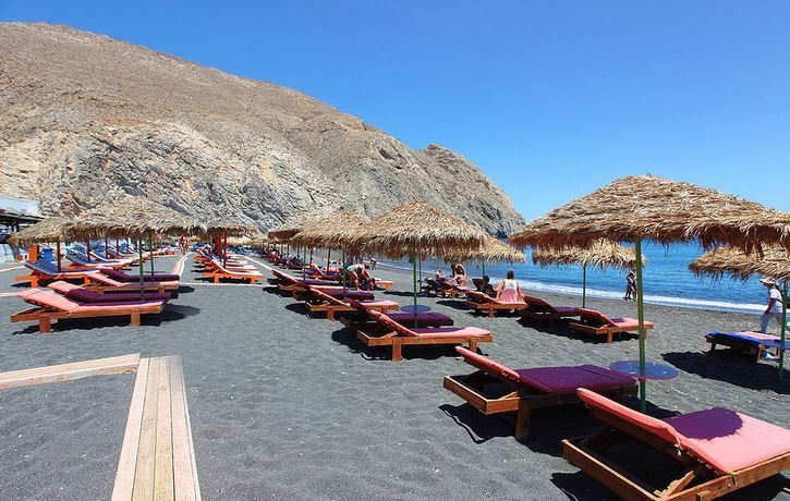 Perissa Beach in Santorini - a little less known