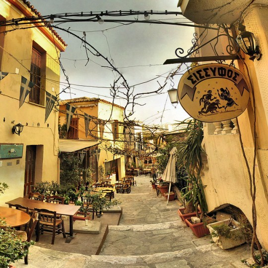 Plaka in Athens (image by Panoramas)