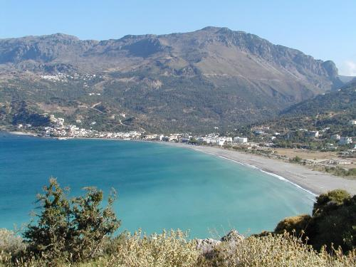 Plakias Bay in the south of the region...