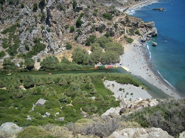 Visit Preveli Beach on the south coast