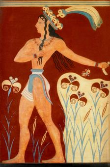 Knossos Palace – Prince of the Lilies fresco