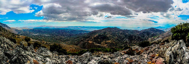Looking out from the range to valleys below (photo by Mavroudis Kostas)