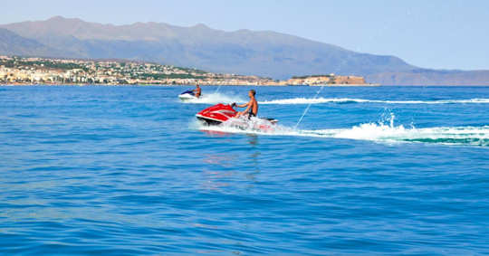 Hire jet skis at Rethymnon Beach, Crete