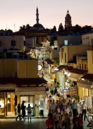 Soak up the atmosphere of Old Rhodes Town on Socratou Street. (image by bracketing life)