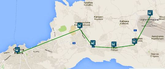 Chania bus to Airport