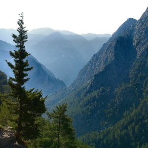 Samaria Gorge view