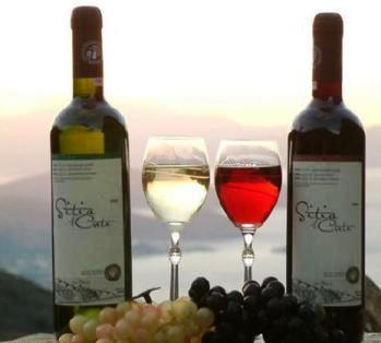 Local wines made by Union of Sitia
