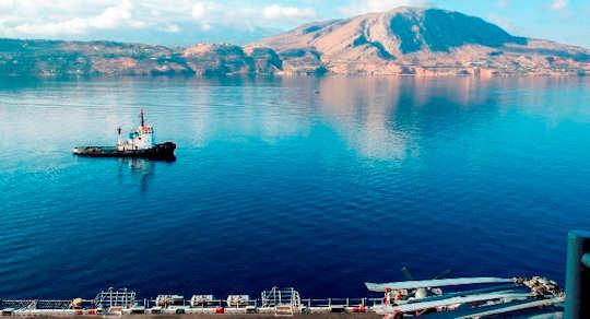 Souda Bay, Crete with Akrotiri Peninsula in the background