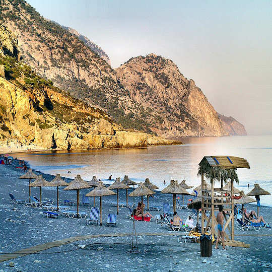 Sougia Beach is accessible only by ferry or by foot from Paleochora (image by Atli Hardarson)