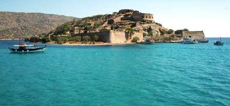 Spinalonga Island, in the east