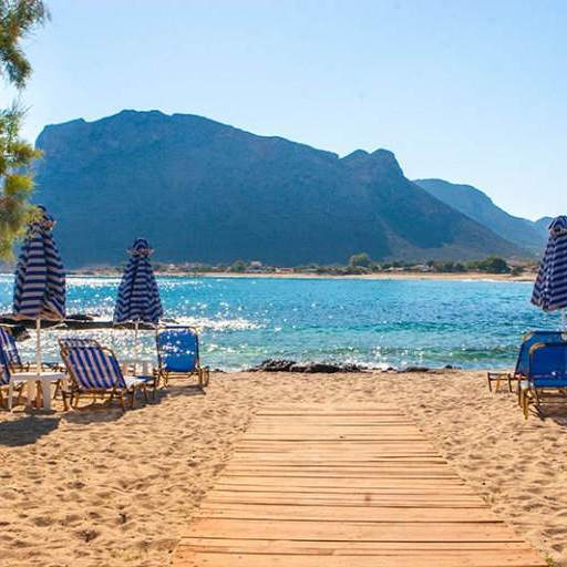 Stavros Beach is close to Chania town in western Crete