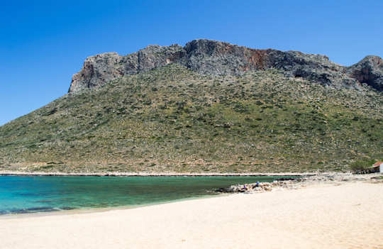 Stavros Cove has two beaches to choose from