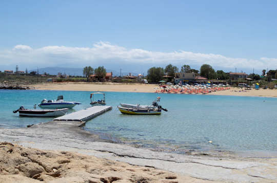 The safe harbour of Stavros Beach